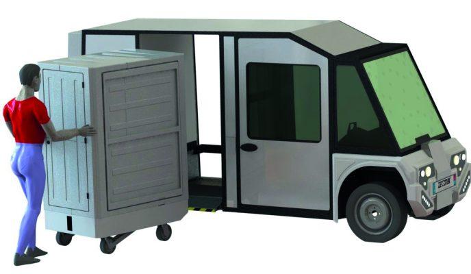 Utilitaire ZE1 et container Combi Cub